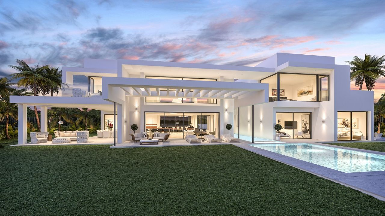 MODERN VILLAS MARBELLA Villas for sale in Marbella  Interior and Exterior Designs in 2019