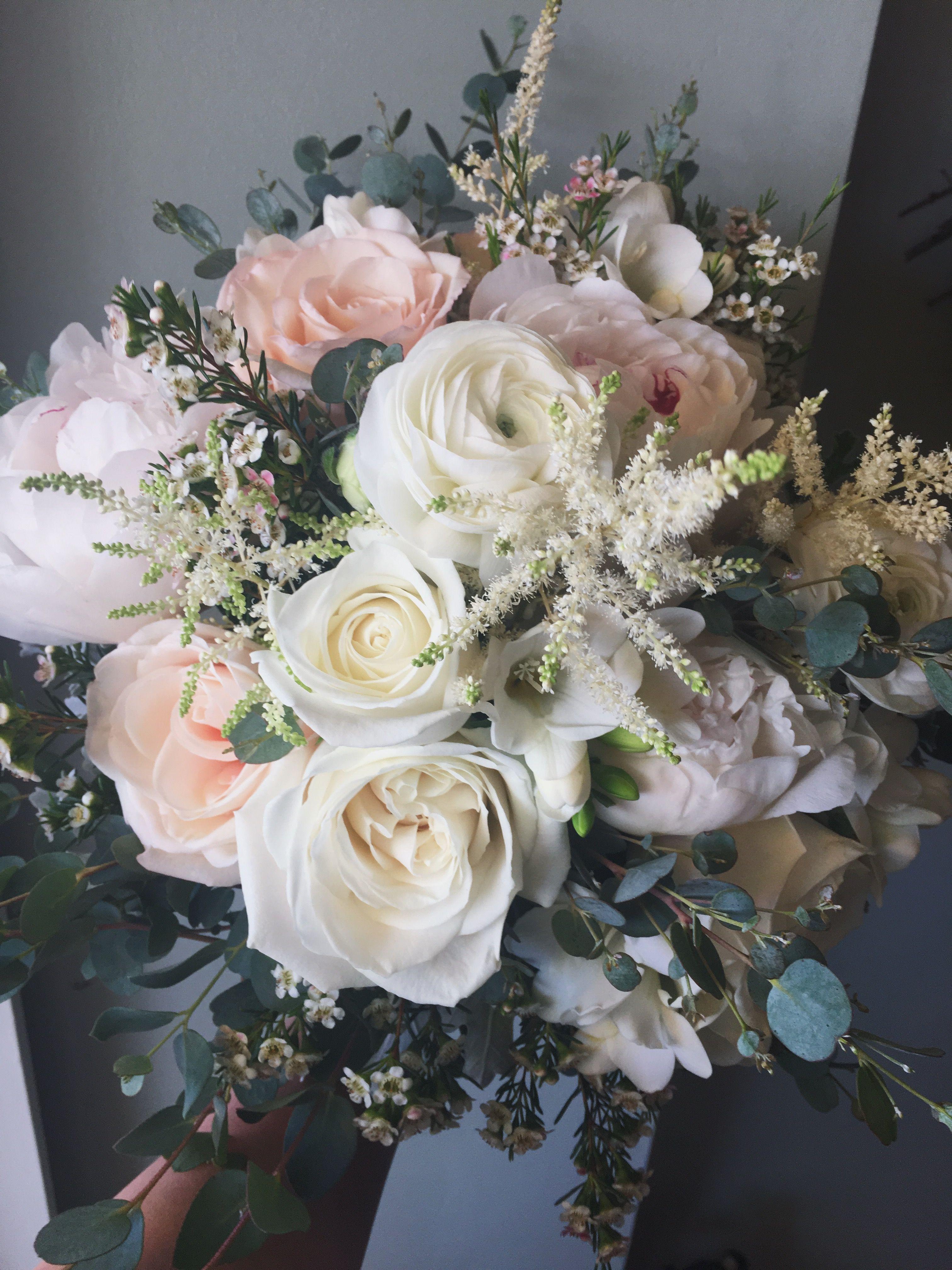 Pink & White Wildflower Wedding Bridal Bouquet @ Eastern Market :: The Vines Flower & Garden Shop