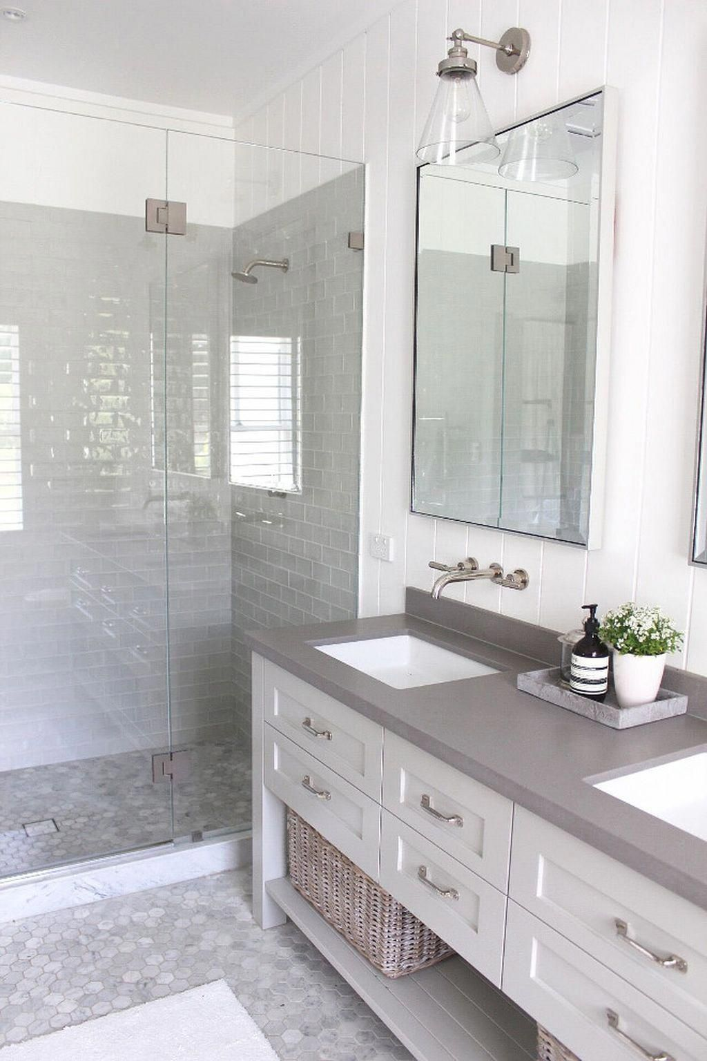 You Can Save Up Money By Opting For Low Cost Alternatives For What Would Be The Most Expensive Product Farmhouse Shower Bathroom Tile Designs Bathroom Interior