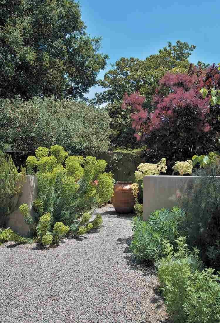 Gravier d coratif pour le jardin avec touche m diterran enne jardin gravier d coratif - Allee de jardin facile ...