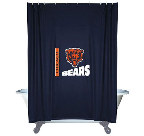 nfl chicago bears shower curtain football bathroom accessories