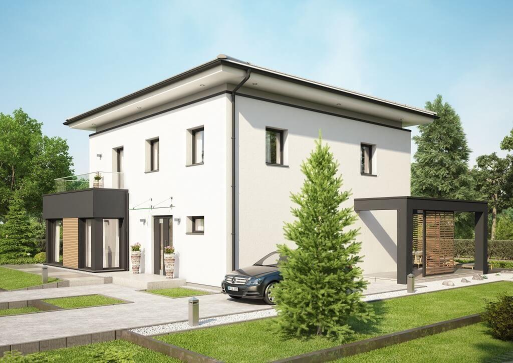 moderne stadtvilla concept m 193 bien zenker einfamilienhaus bauen grundriss modern 4 zimmer. Black Bedroom Furniture Sets. Home Design Ideas