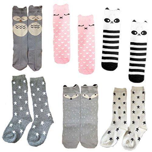 Dooream Unisex Baby Knee High Stockings Tube Socks 6 Pair M 1 3