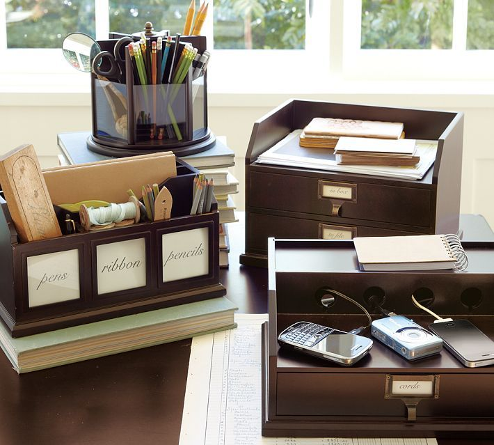 Bedford Desk Accessories Pottery Barn Home Office Home Office