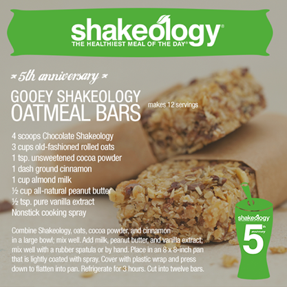 Pin By Amber Whaley Garcia On Shake Recipes Shakeology Recipe Oatmeal Bars Recipes Shakeology Desserts