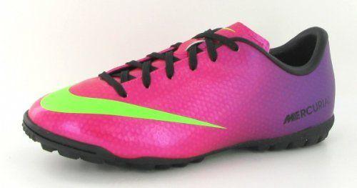 53d3ea5b3a34 Nike Jr Mercurial Victory IV TF- (Fireberry Red Plum Electric Green ...