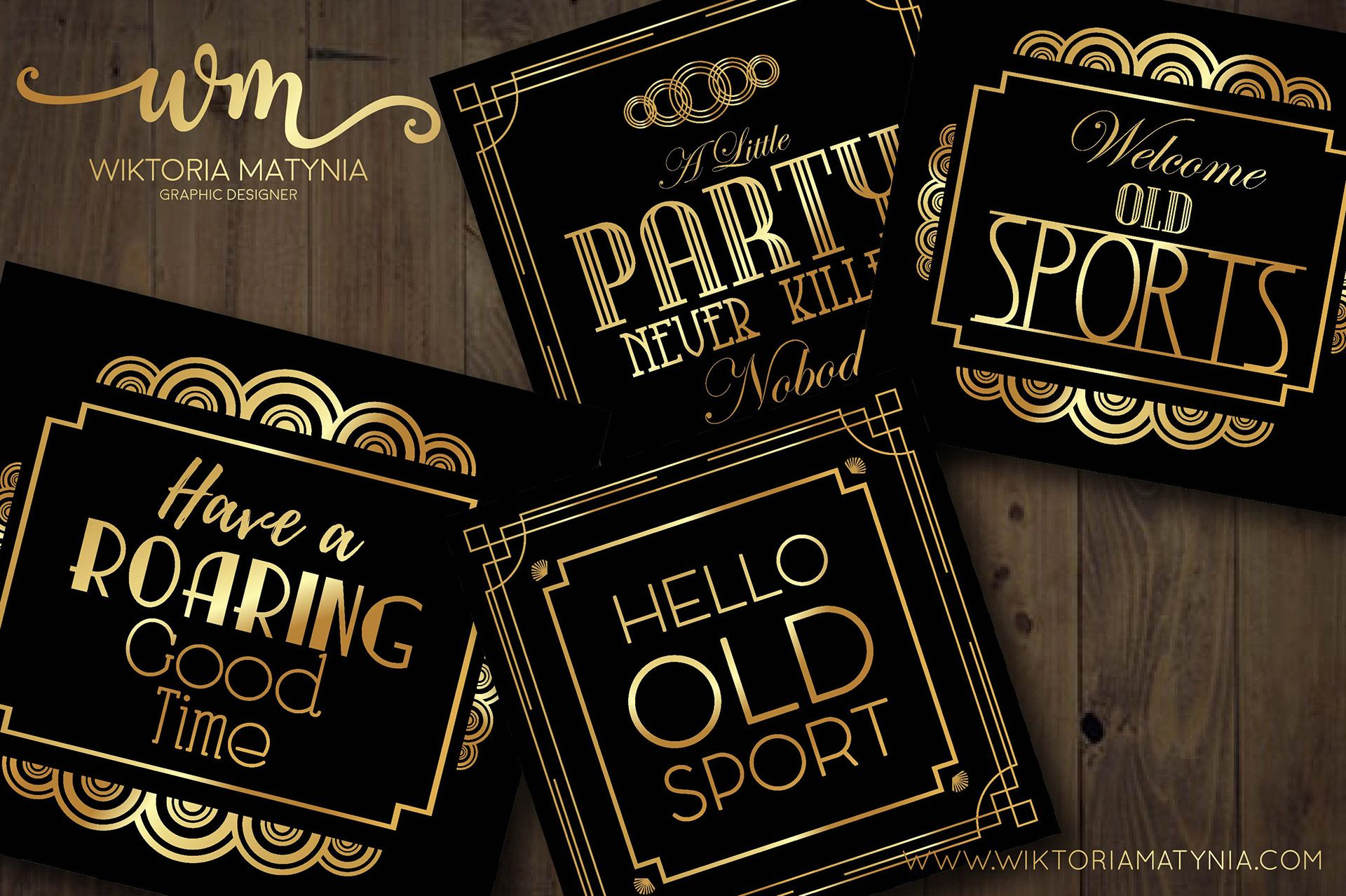 Great Gatsbys Party Art Deco Templates Collection On Behance Deco