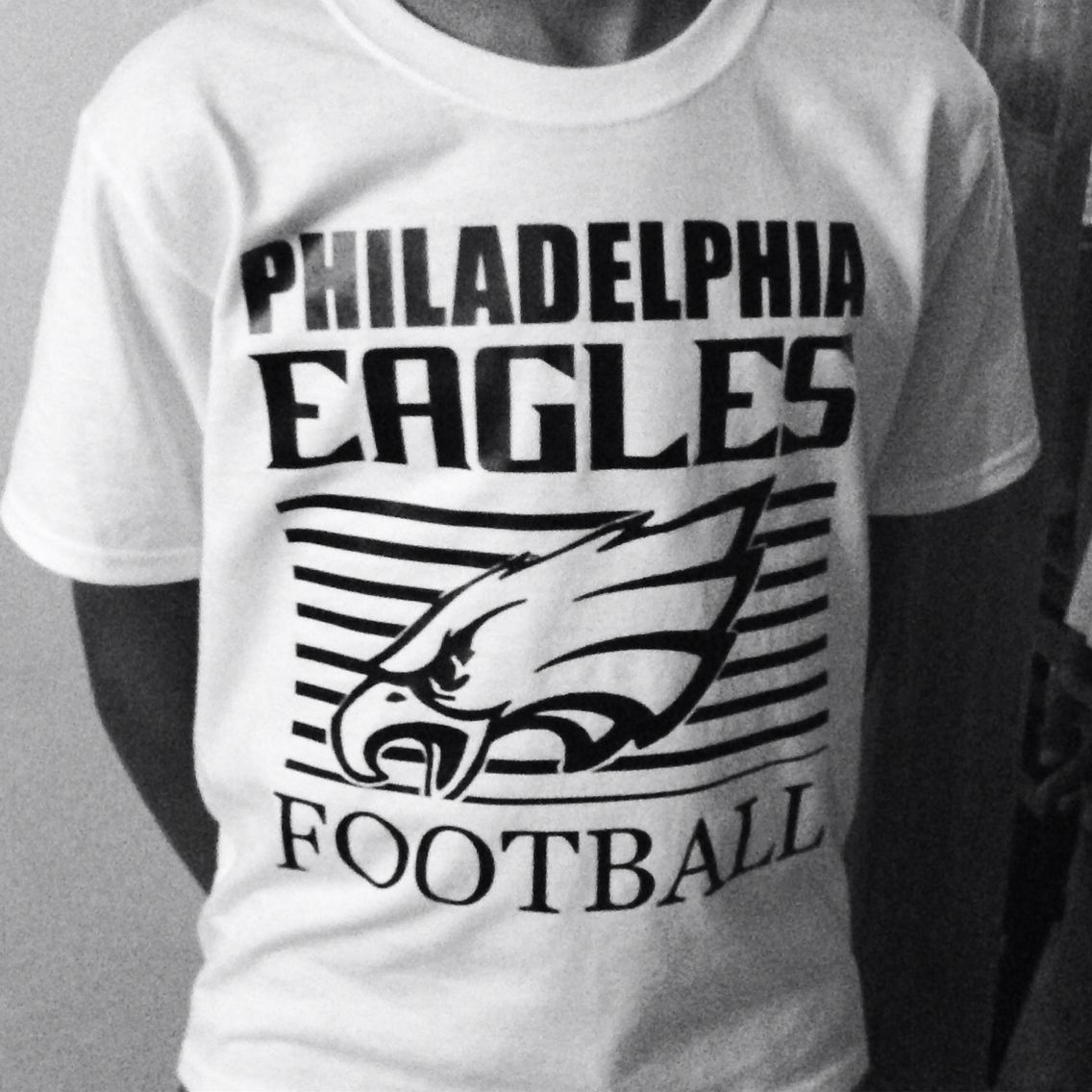 new concept e99bc 22d98 Philadelphia Eagles custom white tee and black design ...
