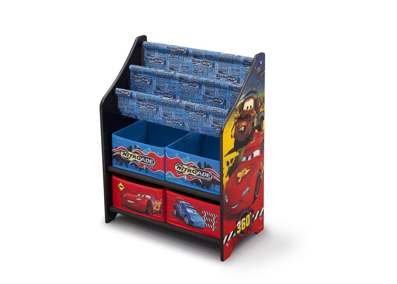 Organizador juguetero y revistero cars de disney madera y for Mueble organizador infantil