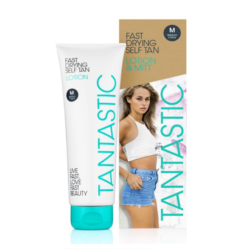 Tantastic Fast Drying Self Tan Lotion Medium 150ml & Mitt - feelunique.com
