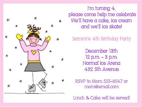 Ice Skating Party Invitation Party Ideas Pinterest – Ice Skating Party Invitations