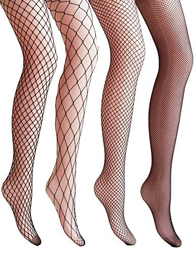 Vero Monte 4 Pairs Women's Hollow Out Fishnet Pantyhose Tights * Read more at the image link.