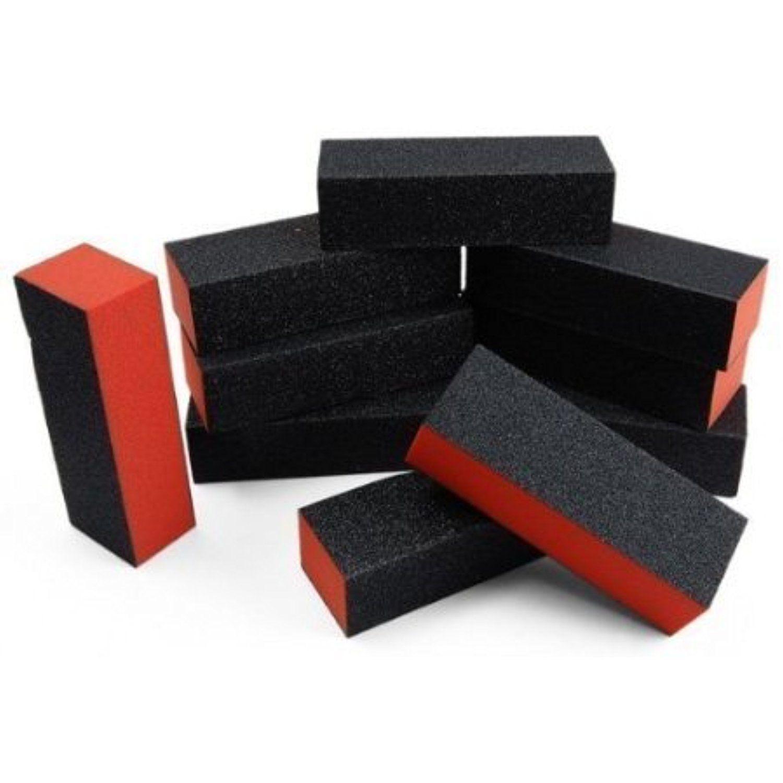 CyberStyle(TM) 10pcs black nail art buffer sanding block files gel ...