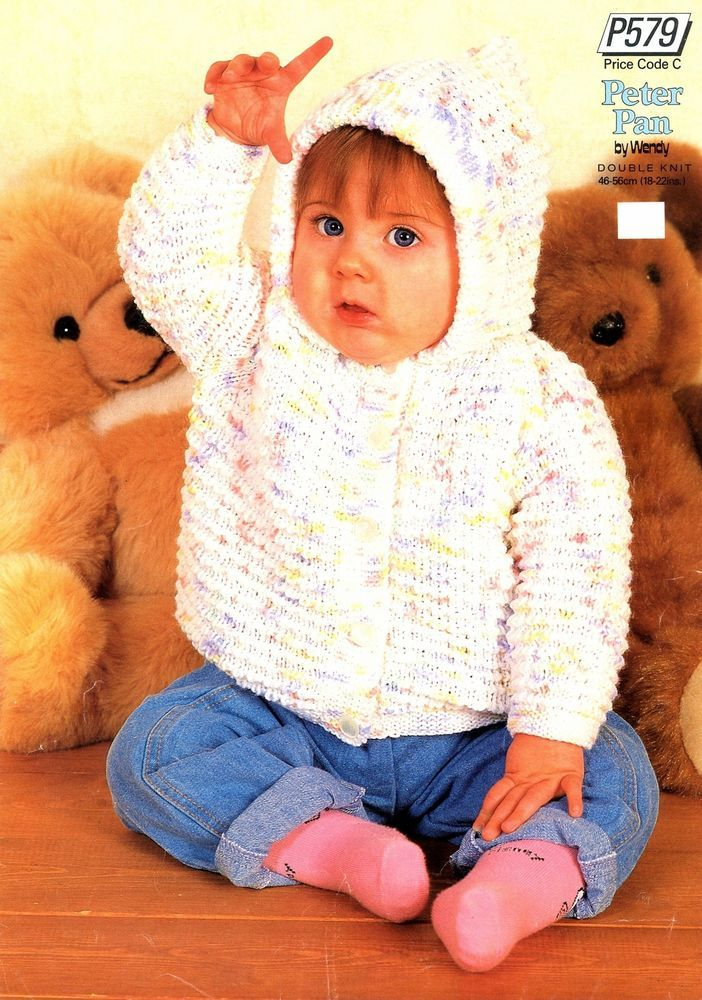 Knitting Pattern For Baby S Child S Hooded Jacket To Knit In Dk