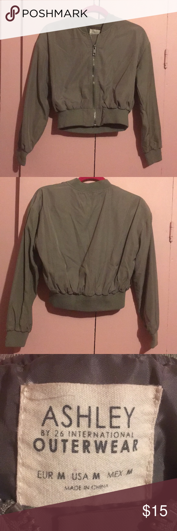 Ashley Outfitters Bomber Jacket Bomber Jacket In Perfect Condition Ashley Outerwear Jackets Coats Bomber Jacket Clothes Design Jackets [ 1740 x 580 Pixel ]