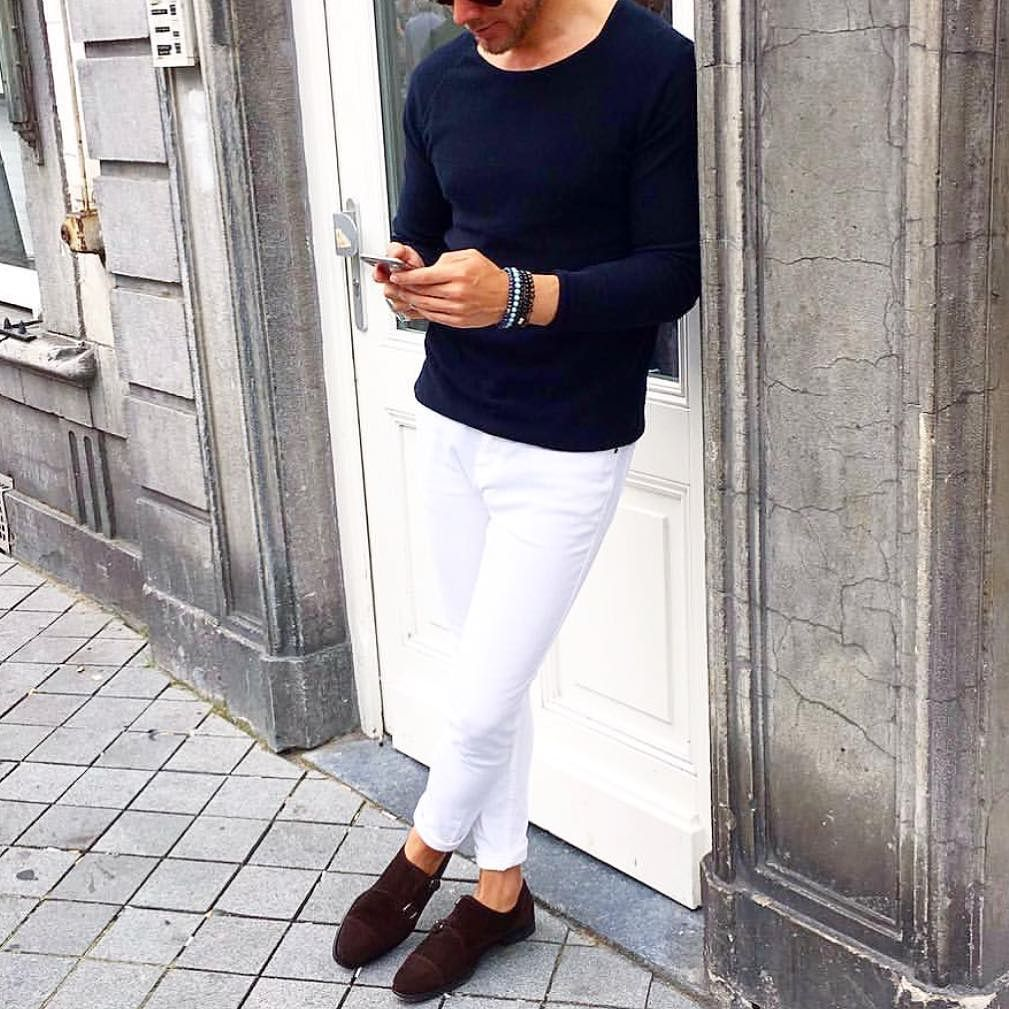 Men 39 S Fashion Instagram Page White Pants Brown Suede And Men 39 S Fashion