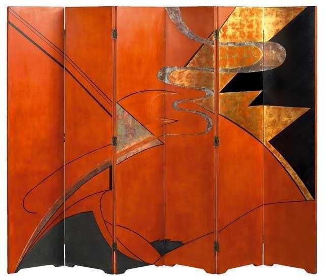 paravent art d co gaston suisse ca 1925 french touch pinterest paravent art d co et art. Black Bedroom Furniture Sets. Home Design Ideas