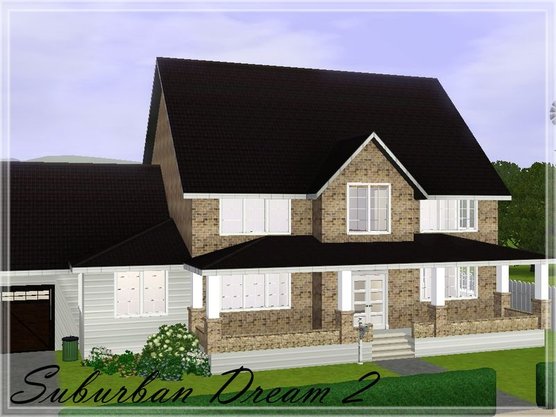 two floor suburban house with one car garage. found in tsr category