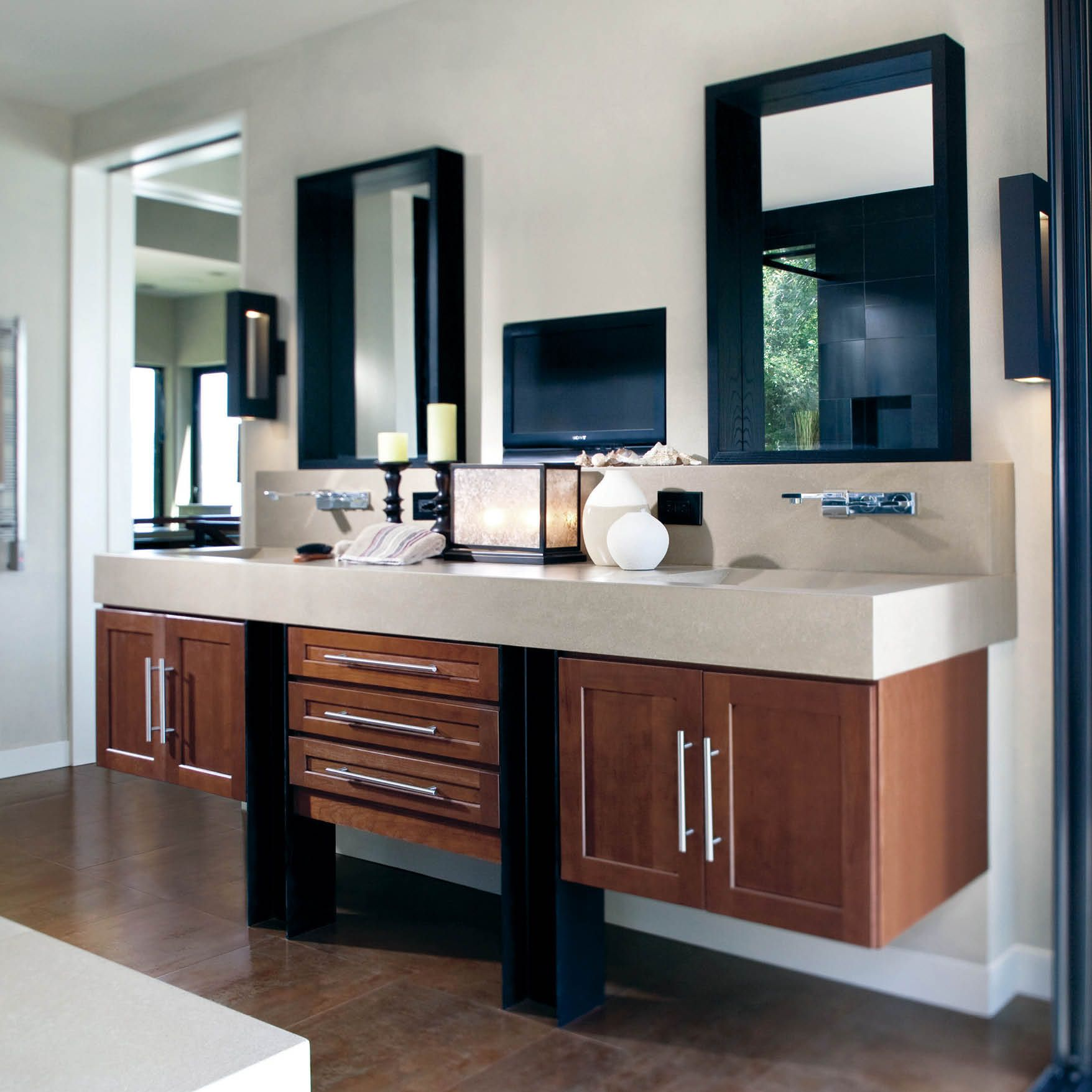 It S More Than A Master Bath Bathroom Design Inspiration Floating Bathroom Vanities Living Spaces