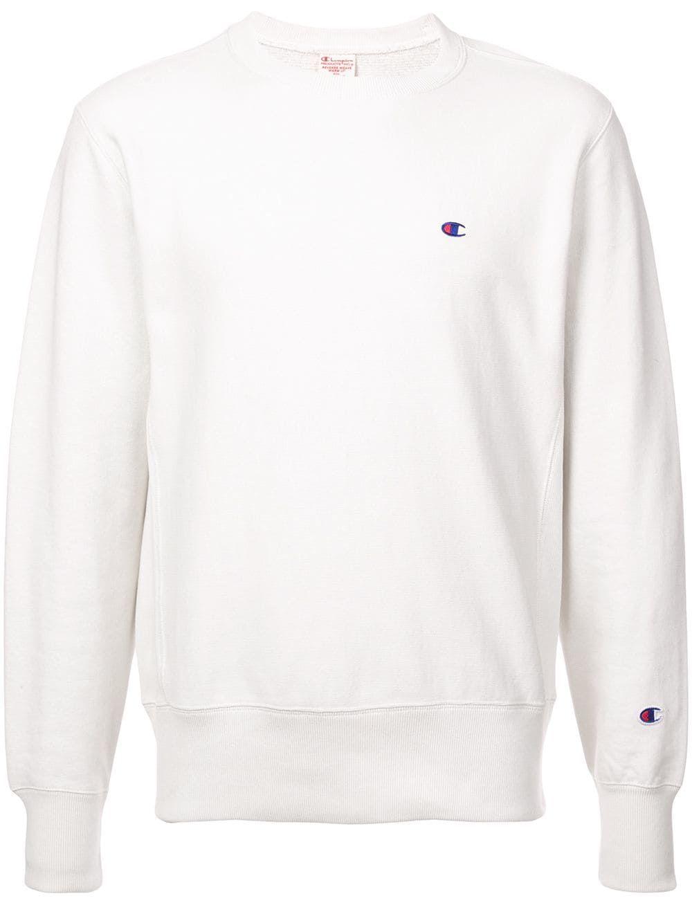 Champion Champion Small Logo Sweatshirt White Champion Cloth [ 1334 x 1000 Pixel ]
