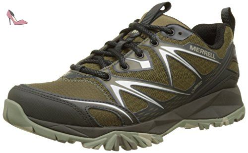 Merrell Tahr Bolt, Chaussures de Randonnée Basses Homme, Multicolore (Black Orange), 48 EU