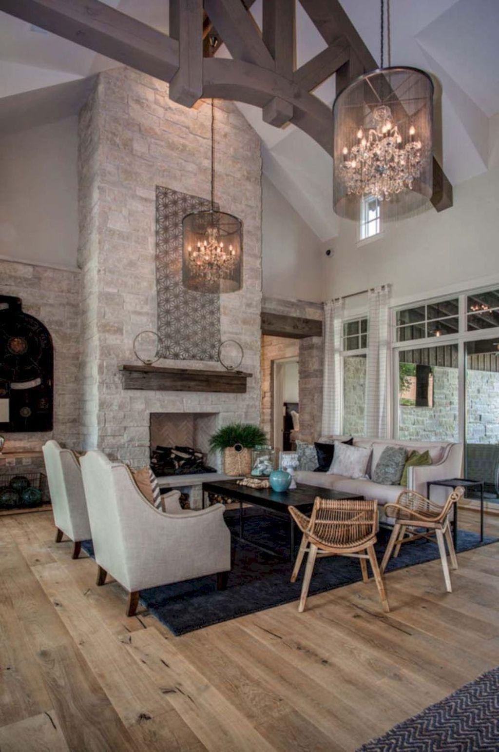 36 stunning lodge living room decor ideas farm house