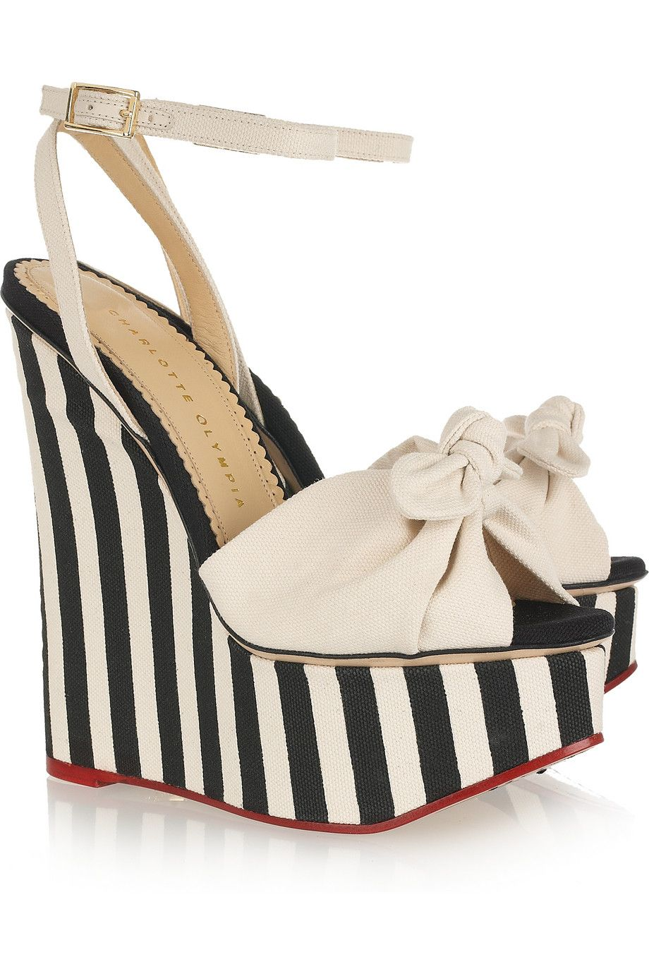 Charlotte Olympia Bow Platform Wedges nicekicks sale online low price fee shipping cheap online visa payment cheap online buy cheap low cost aMKqS0