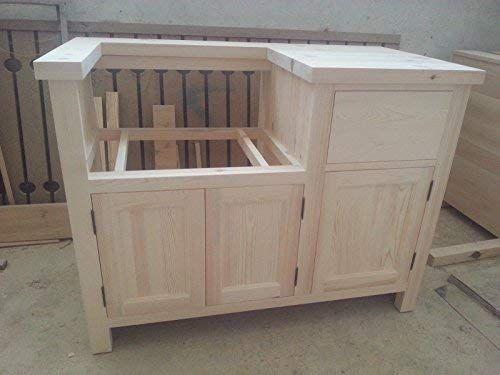 freestanding kitchen unit medium for a belfast sink in solid pine rh pinterest com