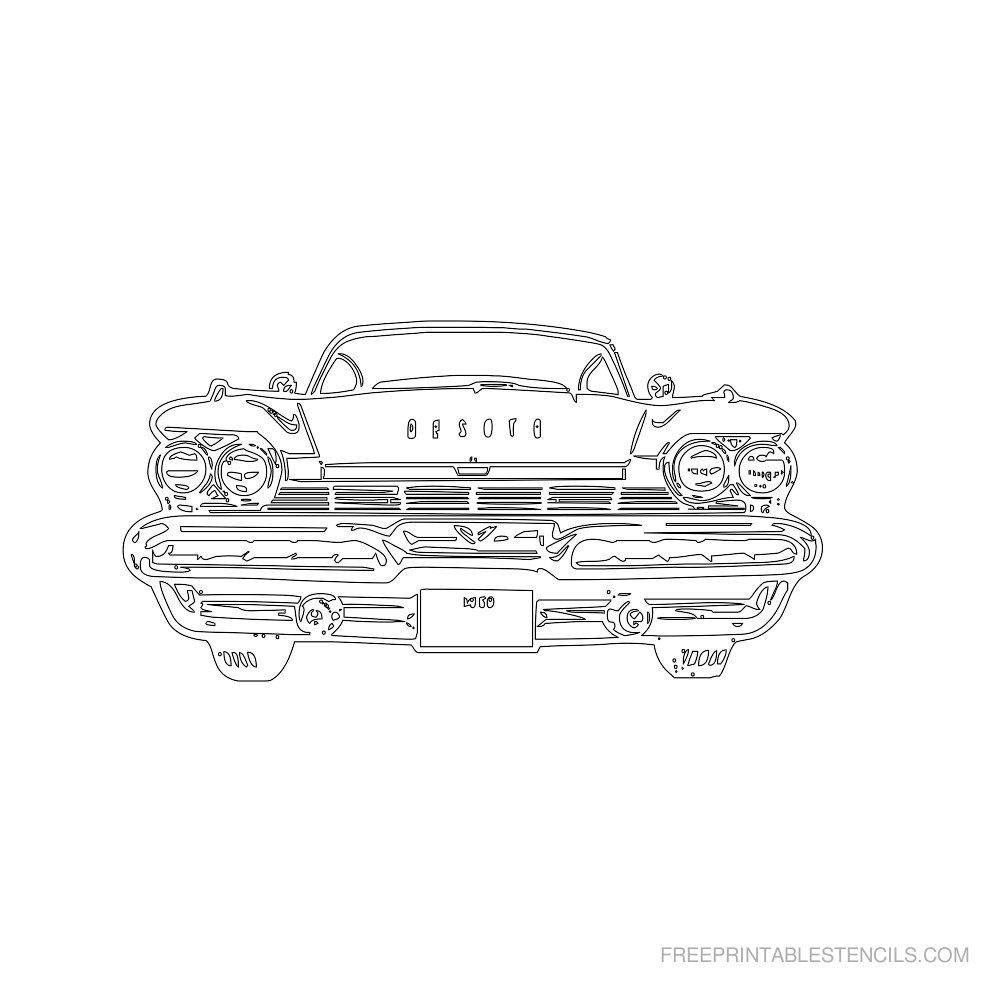 Free Printable Car Stencil P | Leaf template | Pinterest