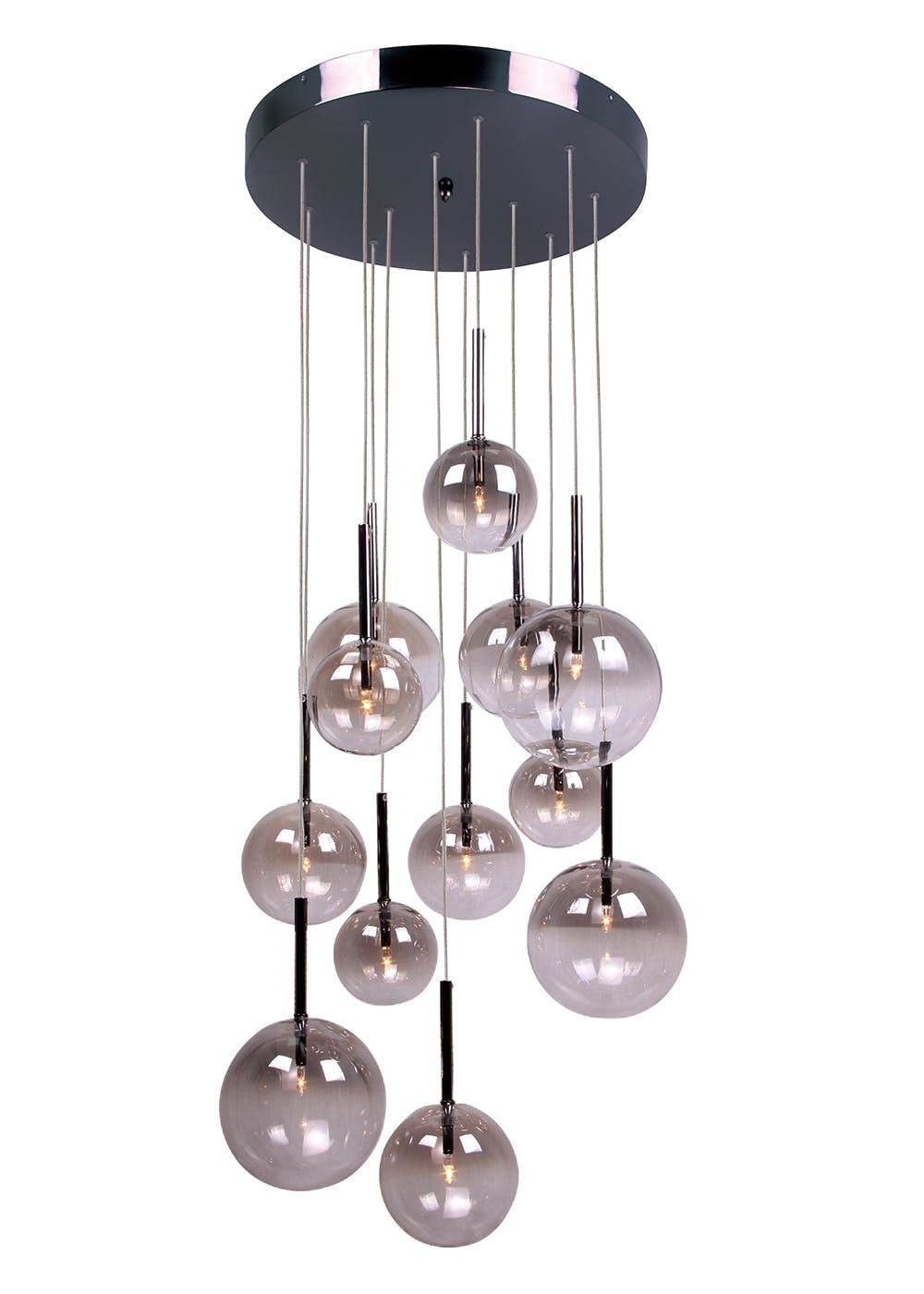 417a043e1166 Illuminate your living space in style with this striking bubble cascade cluster  pendant. Providing an interesting staggered height range, this statement.