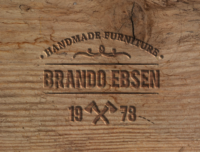 Engraved Wood Mockup With Free Psd Retro Signs
