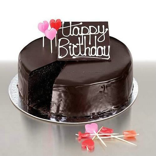 Birthday Chocolate Cake With Candy Yummy Cakes Pinterest