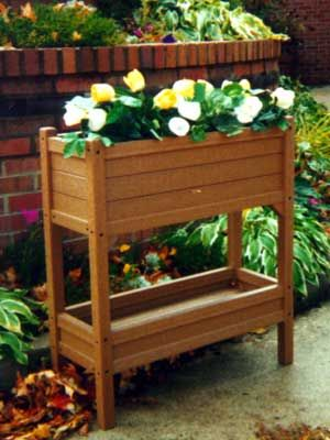 Recycled Plastic Raised Planter Stand Balcony Decor Planters