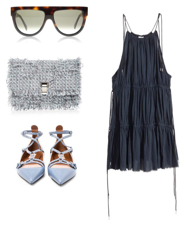 """""""Untitled #1153"""" by inspibykati ❤ liked on Polyvore featuring Proenza Schouler, DK and Valentino"""