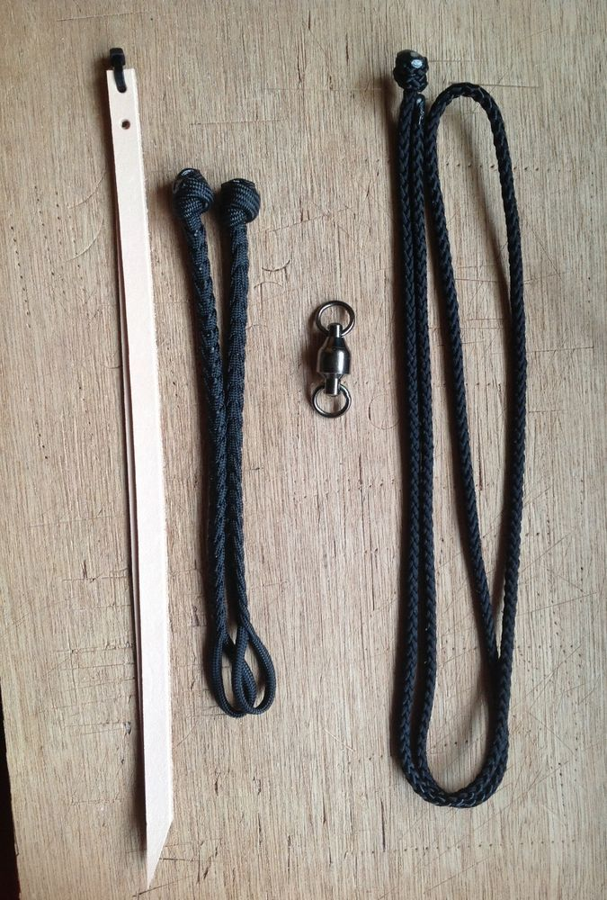 Two sets of Falconry paracord mews jesses