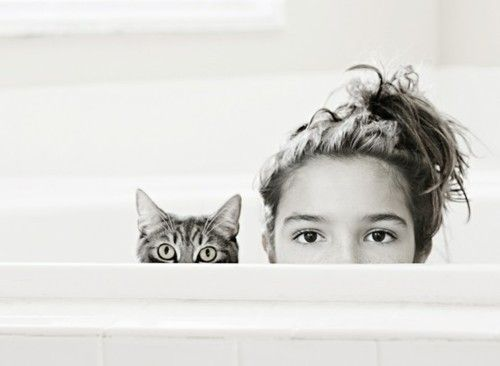 AW! I want of picture of me doing this with my 2 kittens.