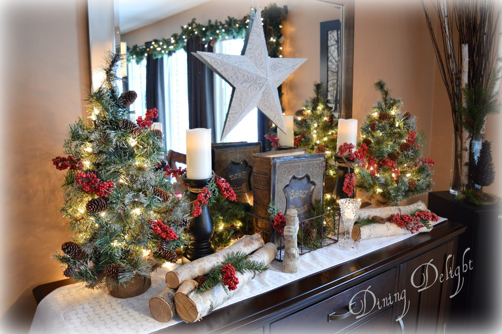 Rustic Christmas Sideboard Christmas Rustic christmas, Christmas, Christmas decorations
