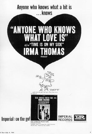 Image result for irma thomas anyone who knows what love is