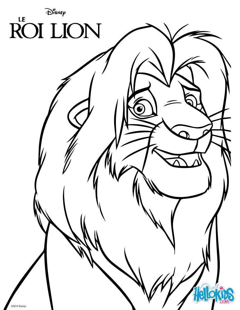 Discover this coloring page of The king Lion Movies. Color