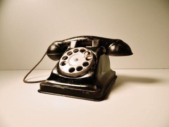 vintage 1940's telephone, etsy