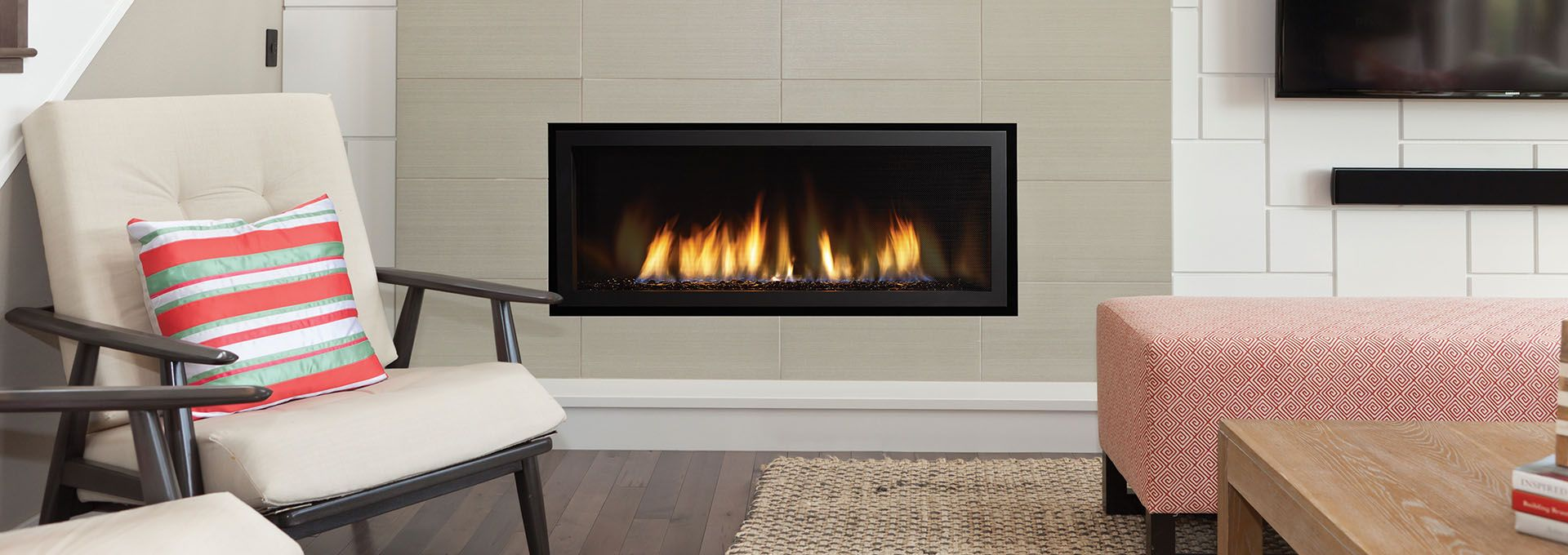 Wonderful Gas Fireplace Repair With Modern Wall Design Front