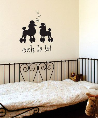 Belvedere Black Poodles 'Ooh La La' Wall Quote