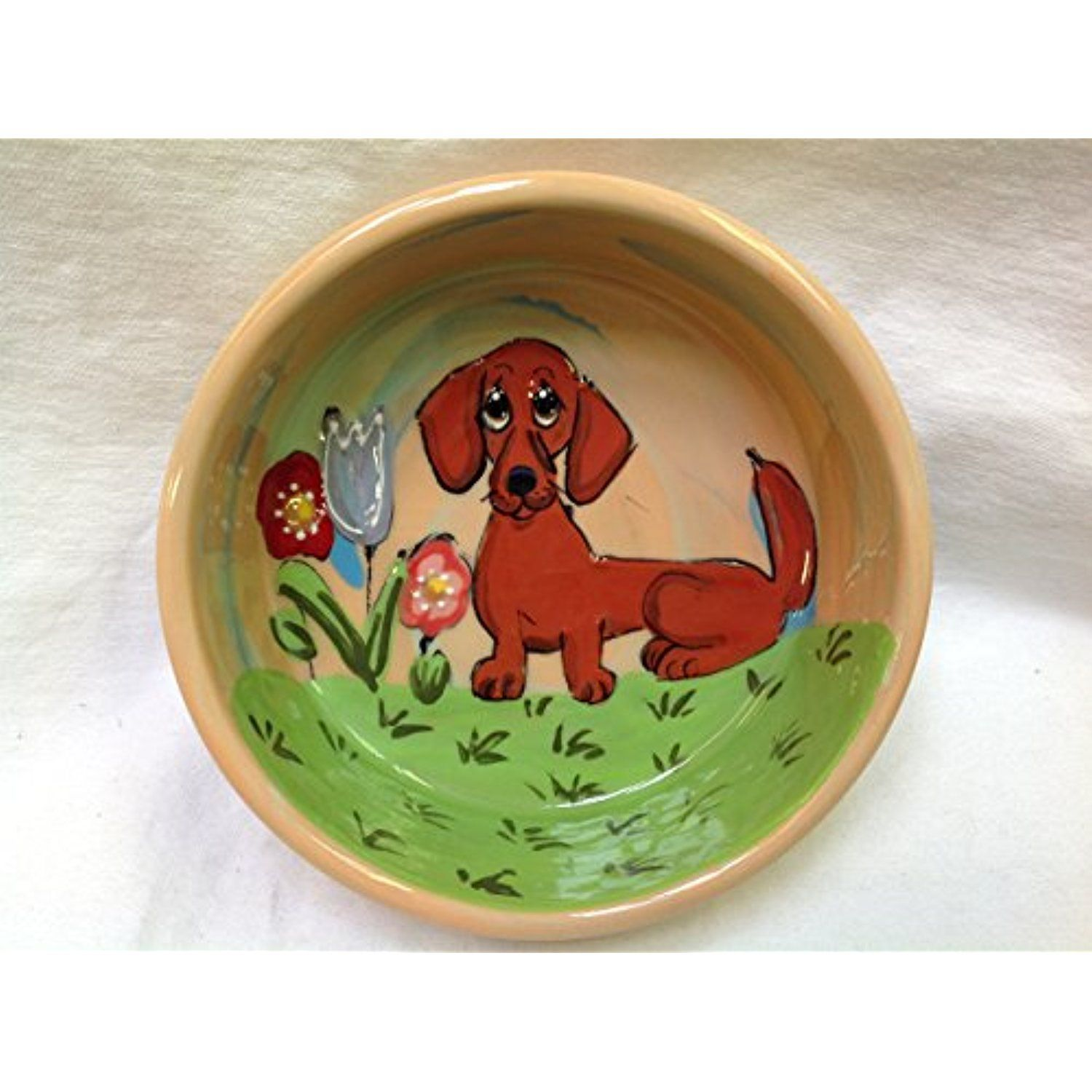 """Dachshund 10"""" Dog Bowl for Food or Water. Personalized at"""