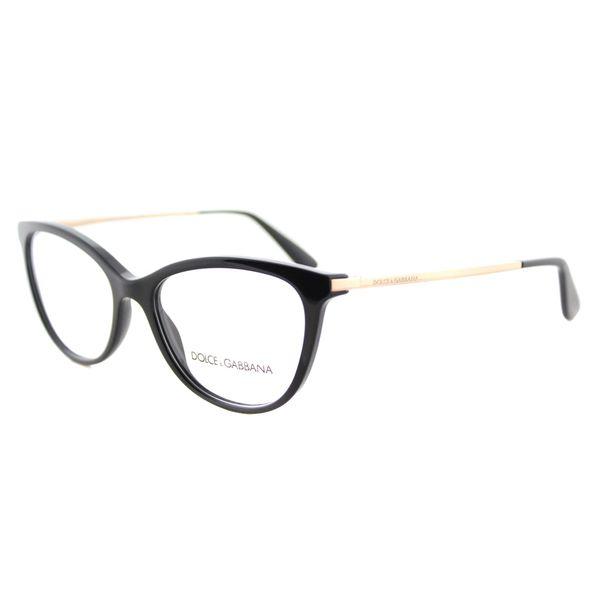 Dolce & Gabbana DG 3258 501 Black Plastic Square Eyeglasses   Frames ...