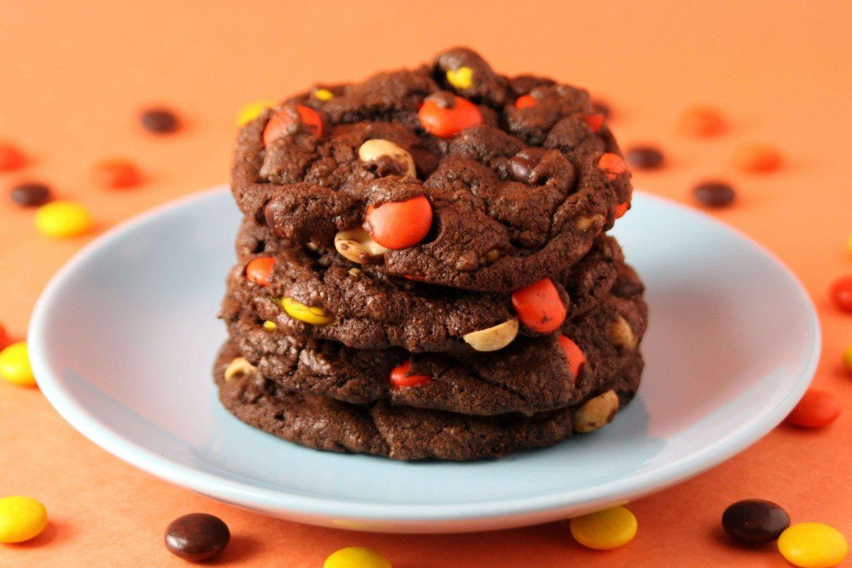 Chocolate reeses pieces cookies recipe reeses pieces