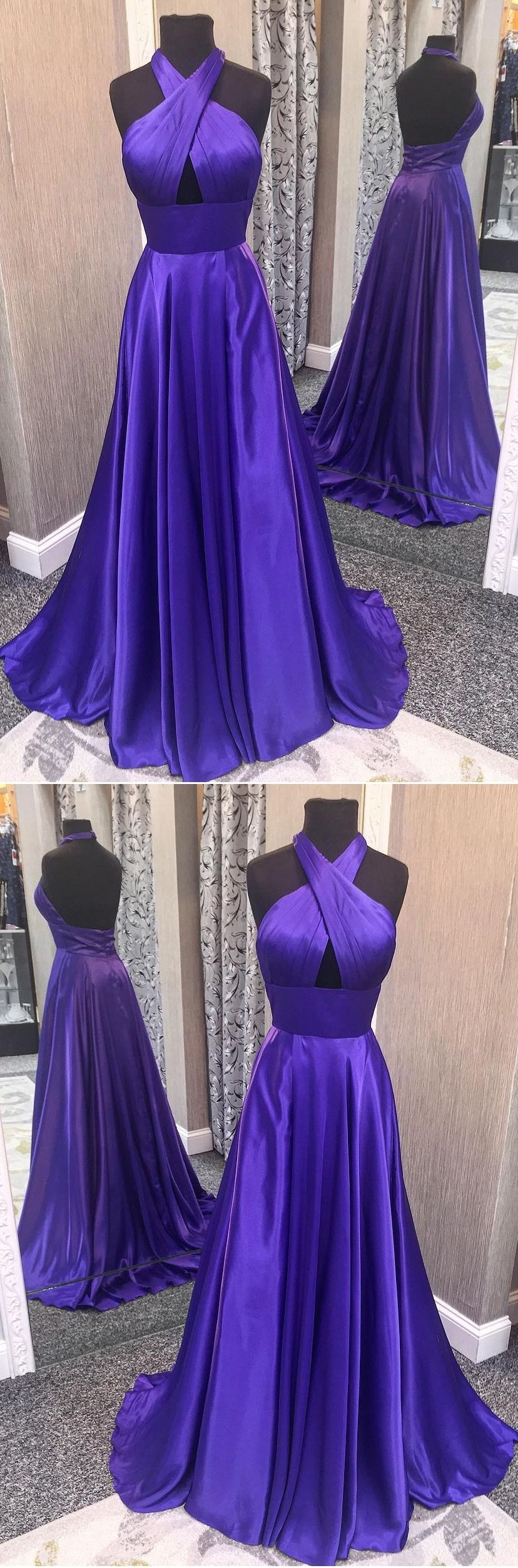 Long prom dresses halter aline floorlength long prom dress chic