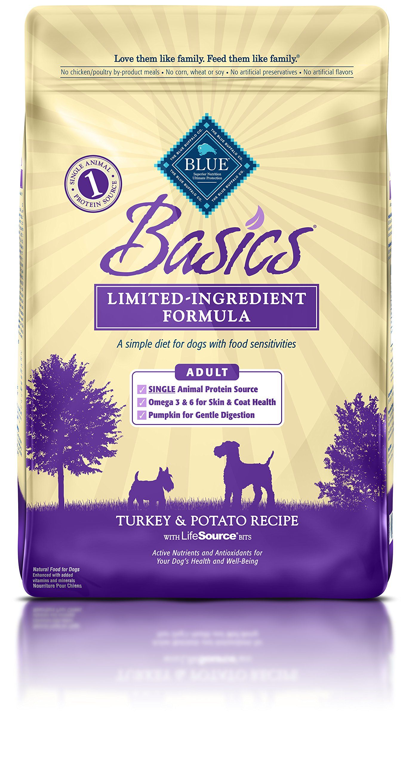 Blue Buffalo Basics Dry Dog Food Turkey And Potato Recipe 11pound