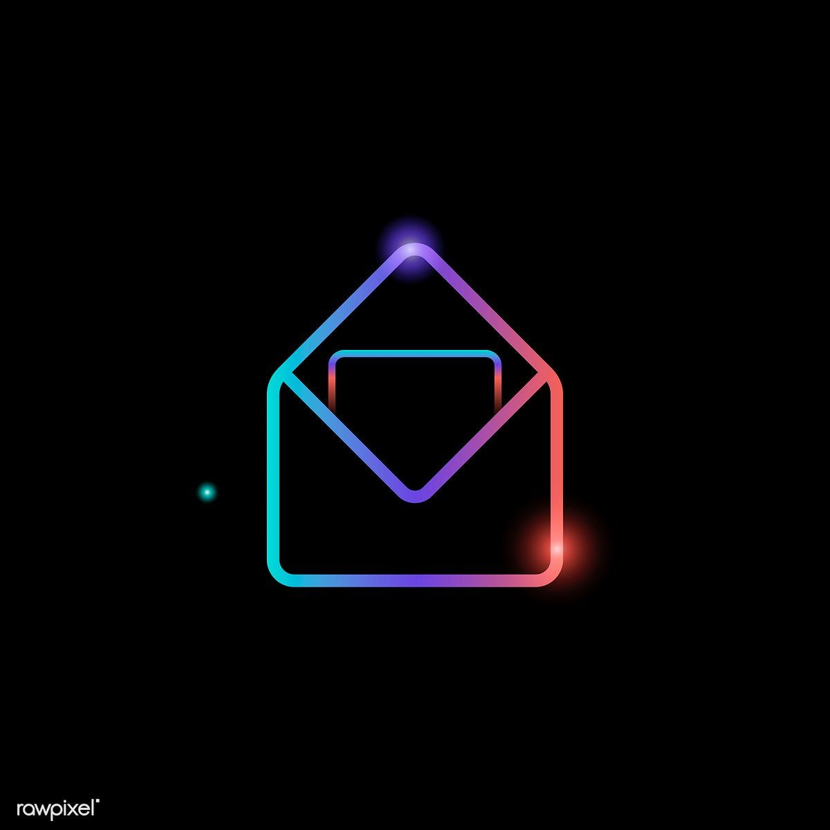 Download premium vector of message envelope social media