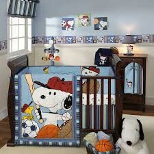 Baby Boys Snoopy Nursery Set