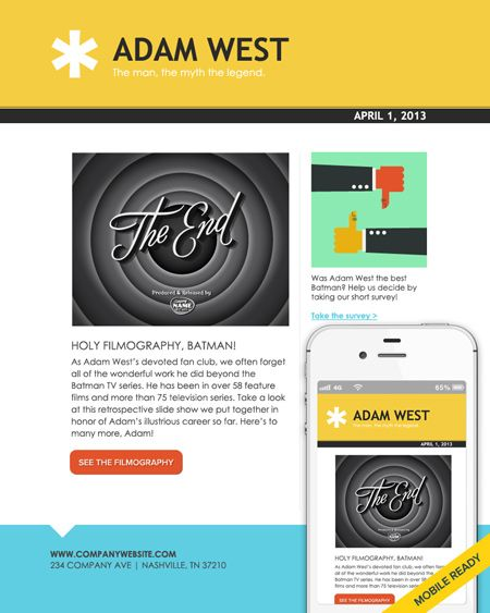 Smart Email Template Design With A Touch Of Retro  Emma Email